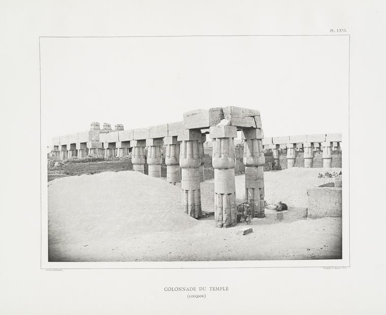 Luxor temple colonade old photo Rare Old Photos of Egypt